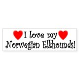 I Love My Norwegian Elkhounds Bumper Car Sticker