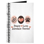 Peace Love Airdale Terrier Journal