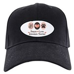 Peace Love Airdale Terrier Black Cap