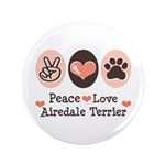 Peace Love Airdale Terrier 3.5