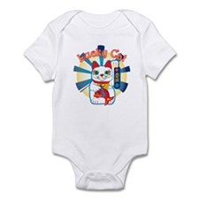 Lucky Cat White Infant Bodysuit
