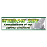 Window Art German Shepherd Bumper Car Sticker