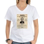 Wanted Bumpy Johnson Women's V-Neck T-Shirt