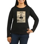 Wanted Bumpy Johnson Women's Long Sleeve Dark T-Sh