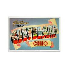 Cleveland Ohio Greetings Rectangle Magnet