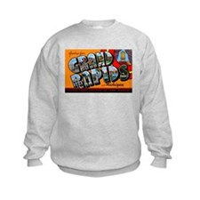 Grand Rapids Michigan Greetings (Front) Sweatshirt