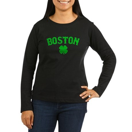 Boston Irish Women's Long Sleeve Dark T-Shirt