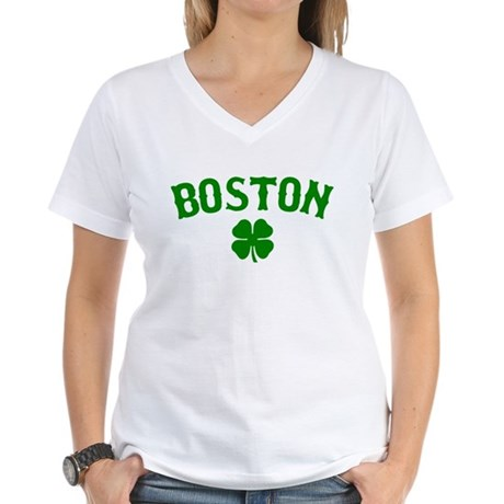 Boston Irish Women's V-Neck T-Shirt