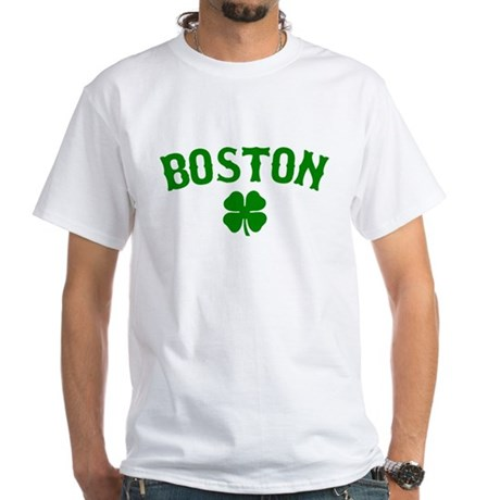 Boston Irish White T-Shirt