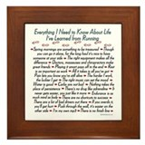 Running's Life Lessons - 13.1 Framed Tile