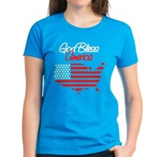 God Bless America Women's Black T-Shirt