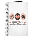 Peace Love Alaskan Malamute Journal
