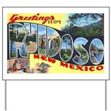 Ruidoso New Mexico Greetings Yard Sign