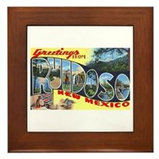 Ruidoso New Mexico Greetings Framed Tile