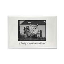 Family - Quilt of Love Rectangle Magnet (100 pack)