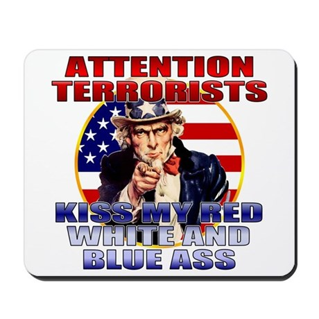 Anti Terrorist Uncle Sam Mousepad
