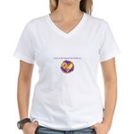 Love - Sew Quilt Heart Women's V-Neck T-Shirt