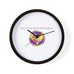 Love - Sew Quilt Heart Wall Clock