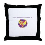 Love - Sew Quilt Heart Throw Pillow