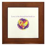 Love - Sew Quilt Heart Framed Tile