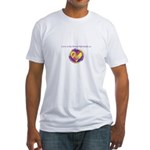 Love - Sew Quilt Heart Fitted T-Shirt
