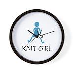Retro Knit Girl Wall Clock