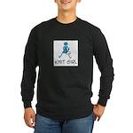 Retro Knit Girl Long Sleeve Dark T-Shirt