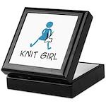 Retro Knit Girl Keepsake Box