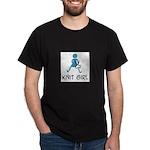 Retro Knit Girl Dark T-Shirt