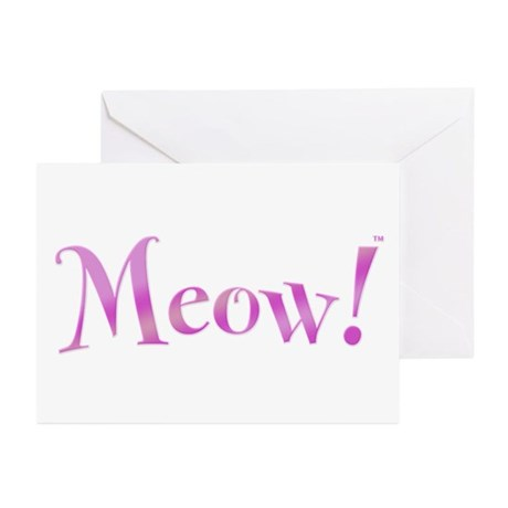 Meow! Greeting Cards (Pk of 20)