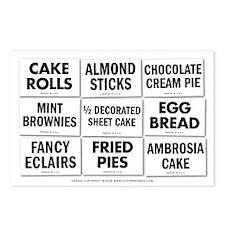 Bake Shop Postcards (Package of 8)