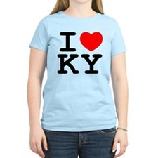 I Heart KY Women's Pink T-Shirt