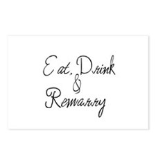 Eat, Drink and Remarry Postcards (Package of 8)