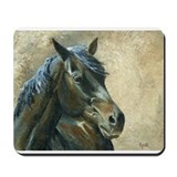 Black Mustang Mousepad