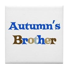 Autumn's Brother Tile Coaster