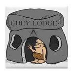 Blue Lodge goes Gray Tile Coaster