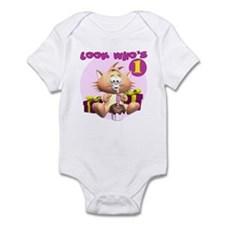 First Birthday Kitten Infant Bodysuit