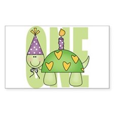 Baby First Birthday Turtle Rectangle Decal