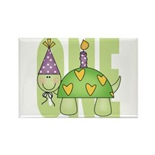Baby First Birthday Turtle Rectangle Magnet (10 pa
