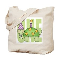 Baby First Birthday Turtle Tote Bag