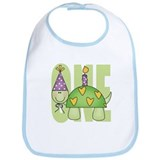 Baby First Birthday Turtle Bib