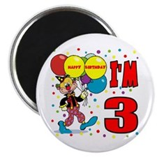 Clown 3rd Birthday Refrigerator Magnet