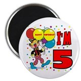 Clown 5th Birthday Refrigerator Magnet