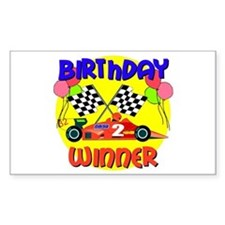 Racecar 2nd Birthday Rectangle Decal