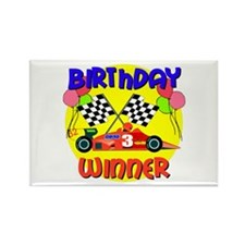 Racecar 3rd Birthday Rectangle Magnet (10 pack)