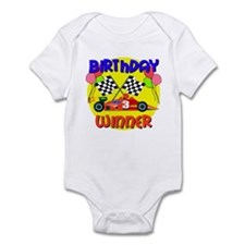 Racecar 3rd Birthday Infant Bodysuit