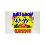 Racecar 4th Birthday Rectangle Magnet