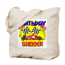 Racecar 4th Birthday Tote Bag