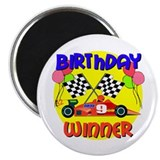 "Racecar 9th Birthday 2.25"" Magnet (10 pack)"