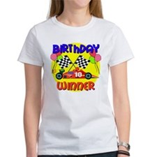 Racecar 10th Birthday Tee